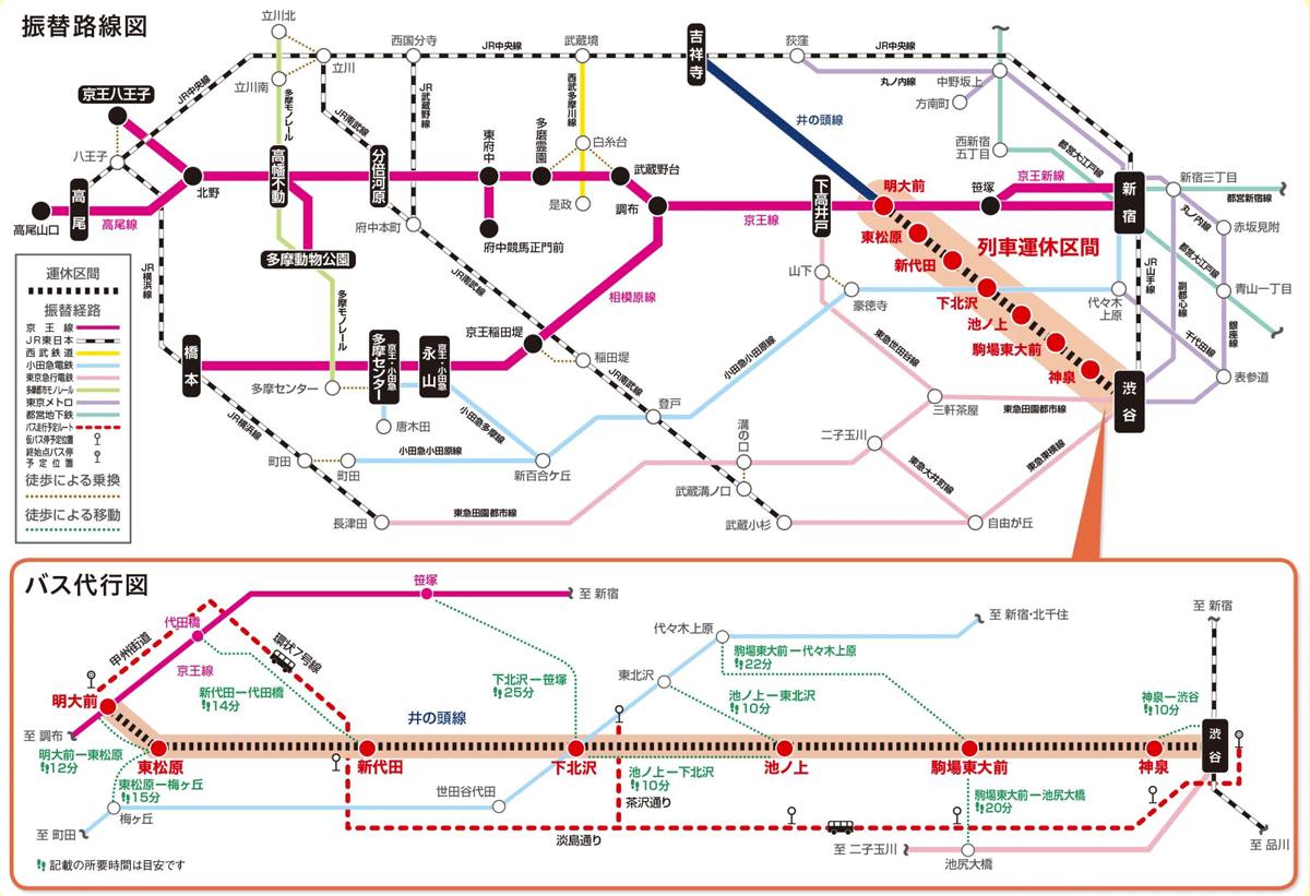 京王 線 計画 運休