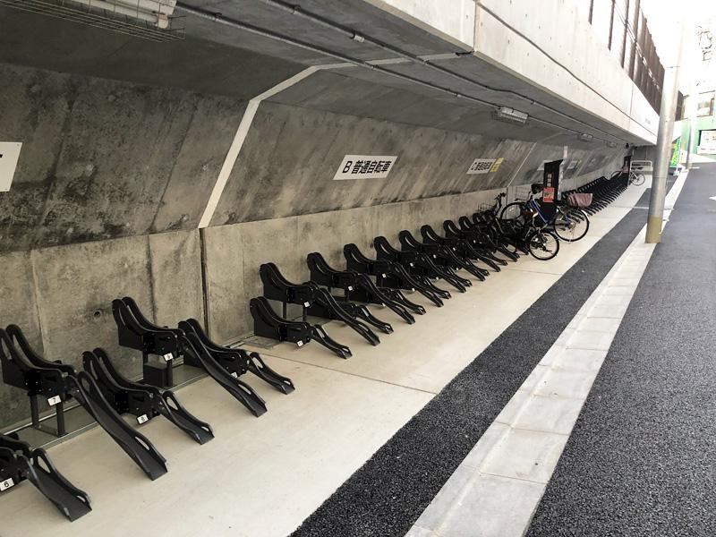 下北沢で区が運営する駐輪場としては初となる屋根付き