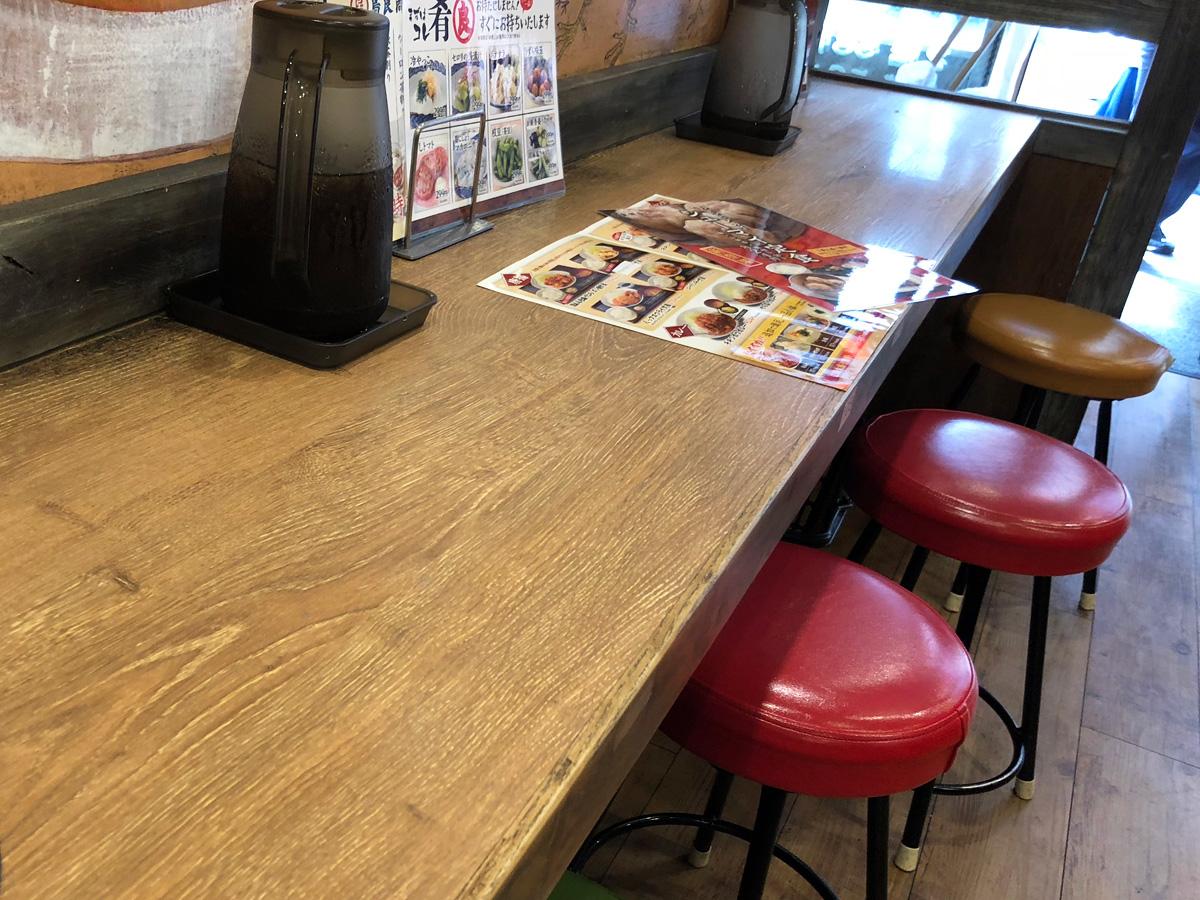 テーブル席が中心ですが、カウンター席もあるので1人でも気にせずに入れます