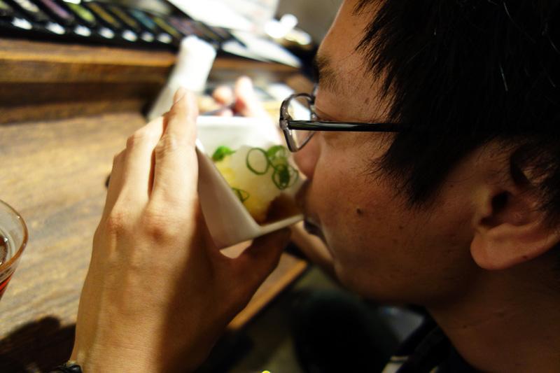 続いて「極旨!有精卵の天ぷら」を食べていただきます