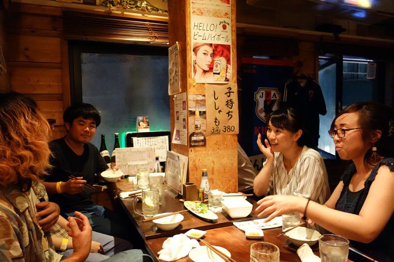 それにしても話が盛り上がる。『ばるばる下北沢』で呑み友ができるってのは本当なんですねー
