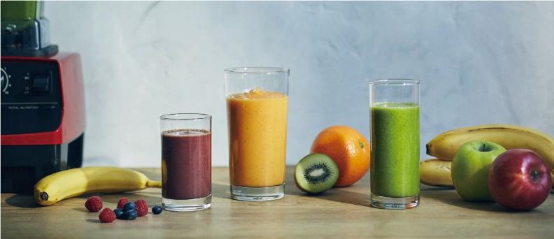 Vitamix バイタフルーツを使った濃厚フルーツスムージー試飲ブース