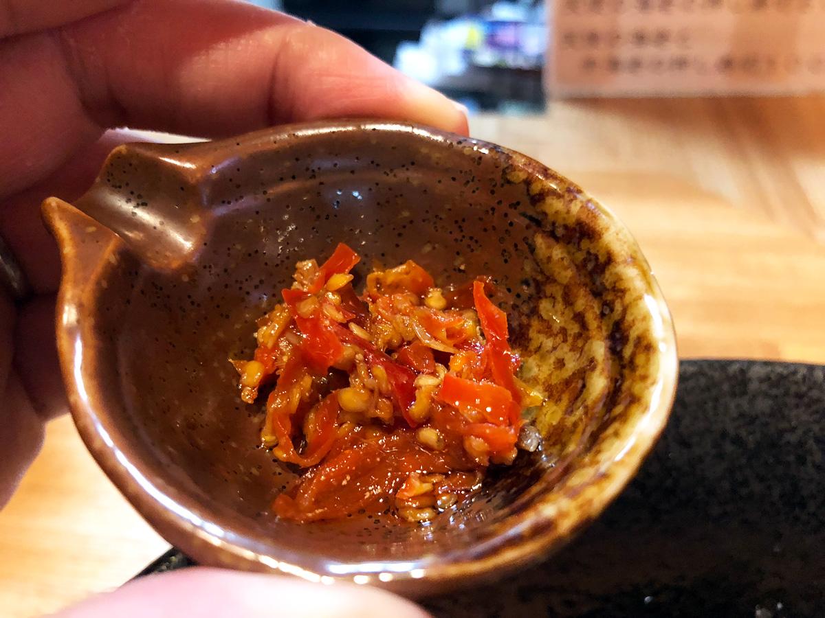 「海老まぜそば」には自家製の海老辣油を使っているとか。海老に対するこだわりはやはり半端ない