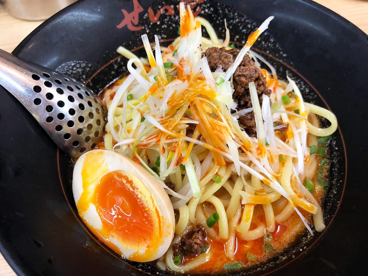 せい家の「冷やし担々麺」650円(税別)