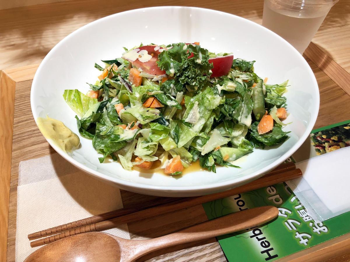 Herbivorous Saladの「チョップドサラダの冷やし中華」1000円(税込)