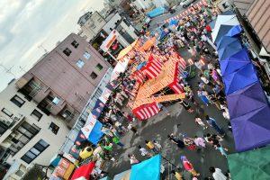 ※ぱくぱくパーク予定地で、8月に行われた下北沢盆踊り2018の模様