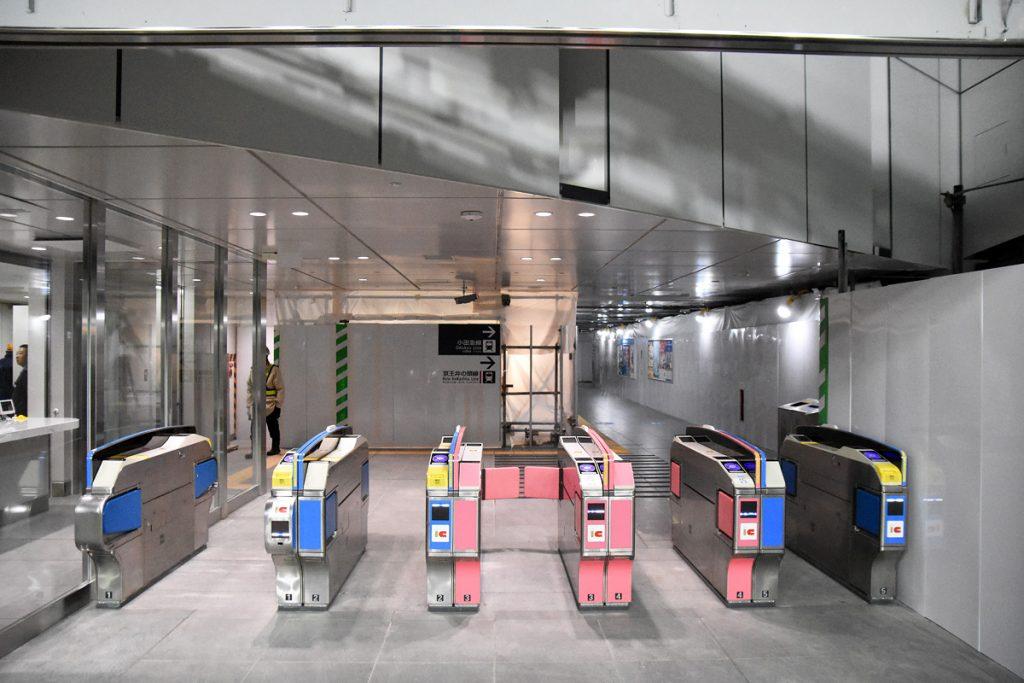 下北沢駅の新しい改札、東口です。