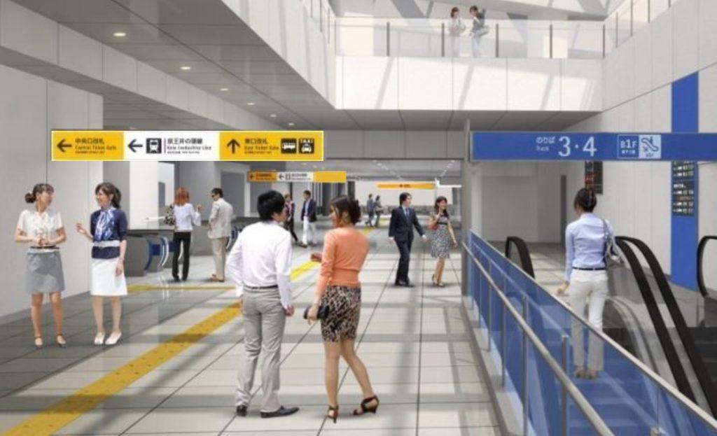 小田急中央口のイメージ図 ※駅サインなどは変更になる場合があります (小田急電鉄リリースより)