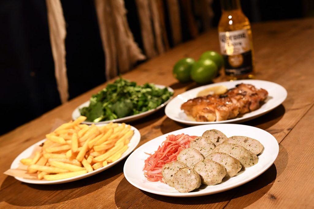 「ロンヴァクアン」で提供される「サウナ飯」4種
