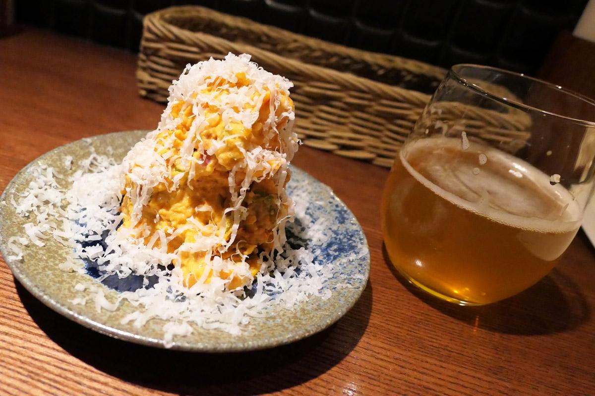 風乗りメリーの「オモニのキムチと山羊チーズのポテトサラダ」