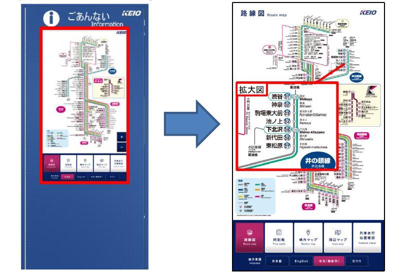 井の頭線下北沢に新設される、駅総合案内デジタルサイネージ(イメージ)
