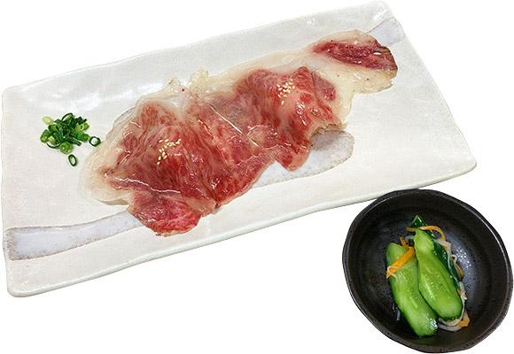 肉いち枚 『黒毛和牛炙り寿司(小鉢付き)』