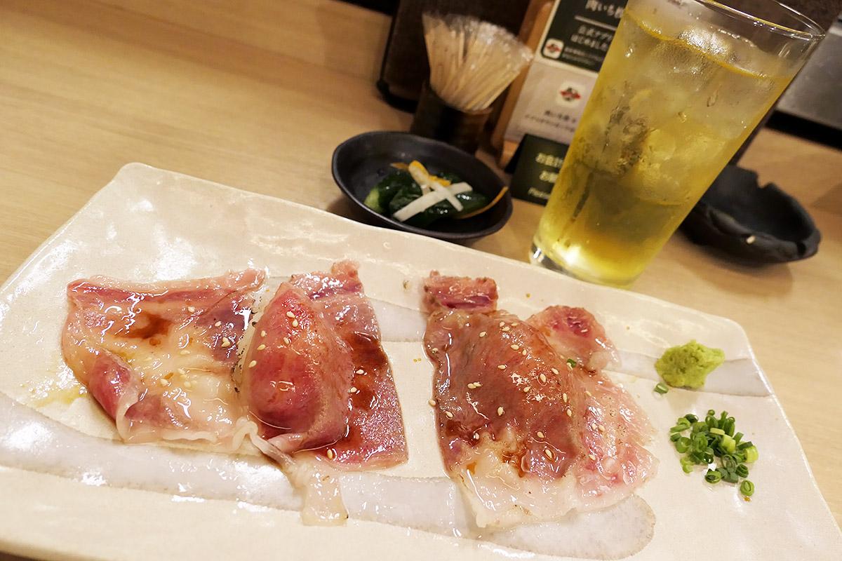 肉いち枚の「「黒毛和牛炙り寿司」」