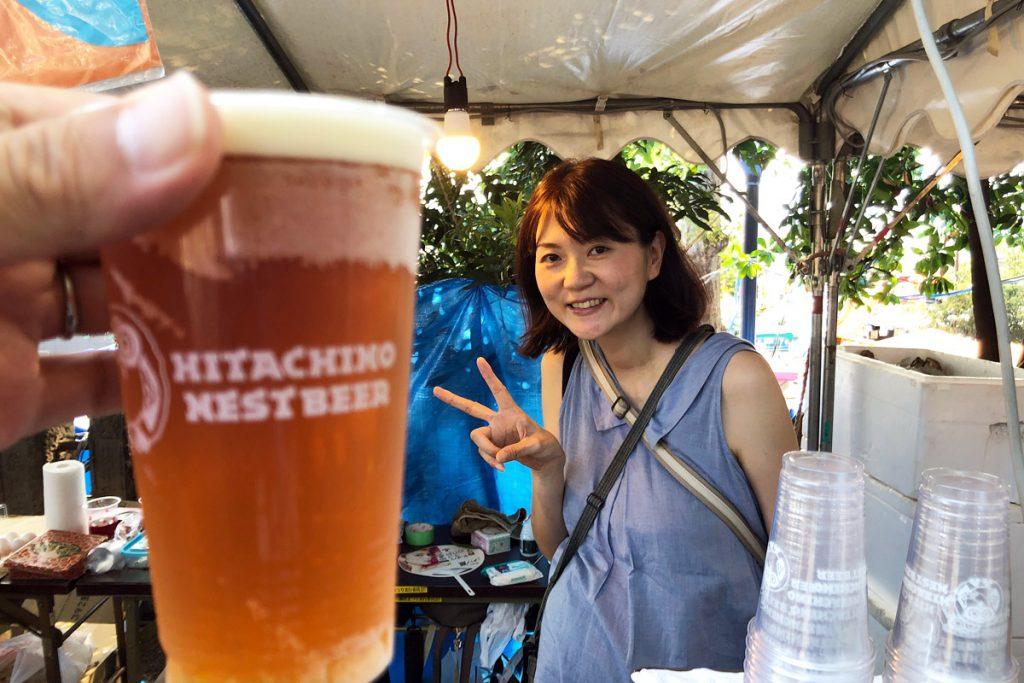 GOZOのHITACHINO NEST Pale Ale 500円、相変わらずおいしい! お祭りで飲めるビールじゃないーー