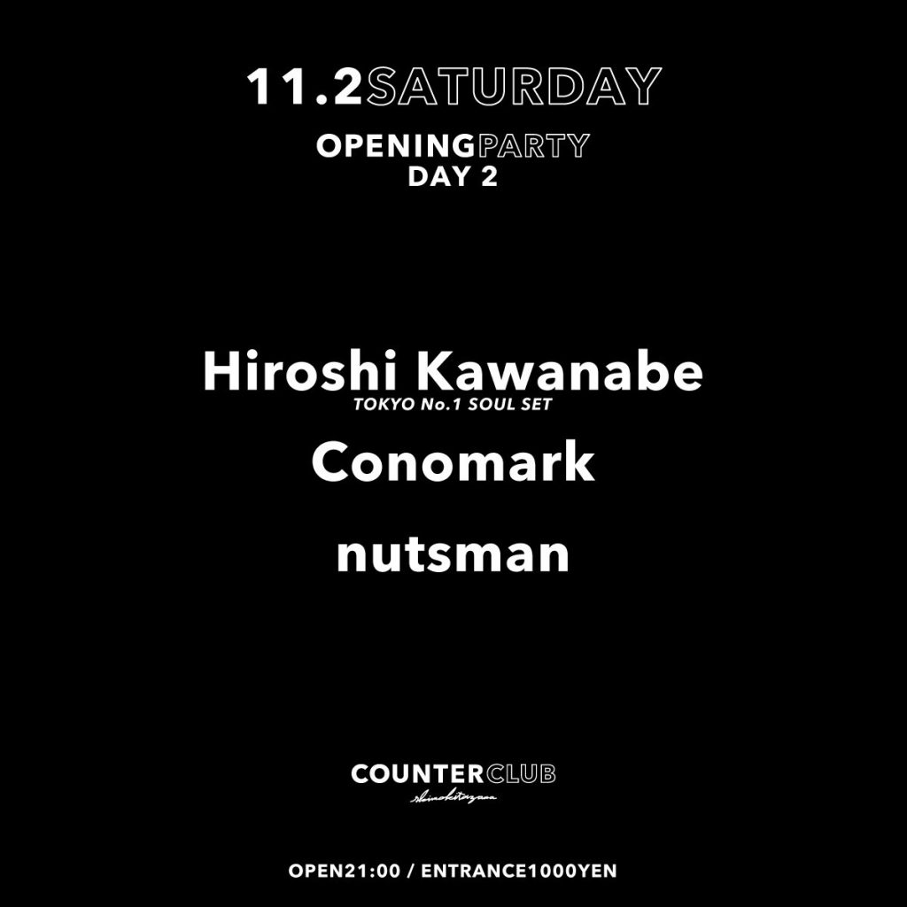 COUNTER CLUB OPENING PARTY ''DAY 2''