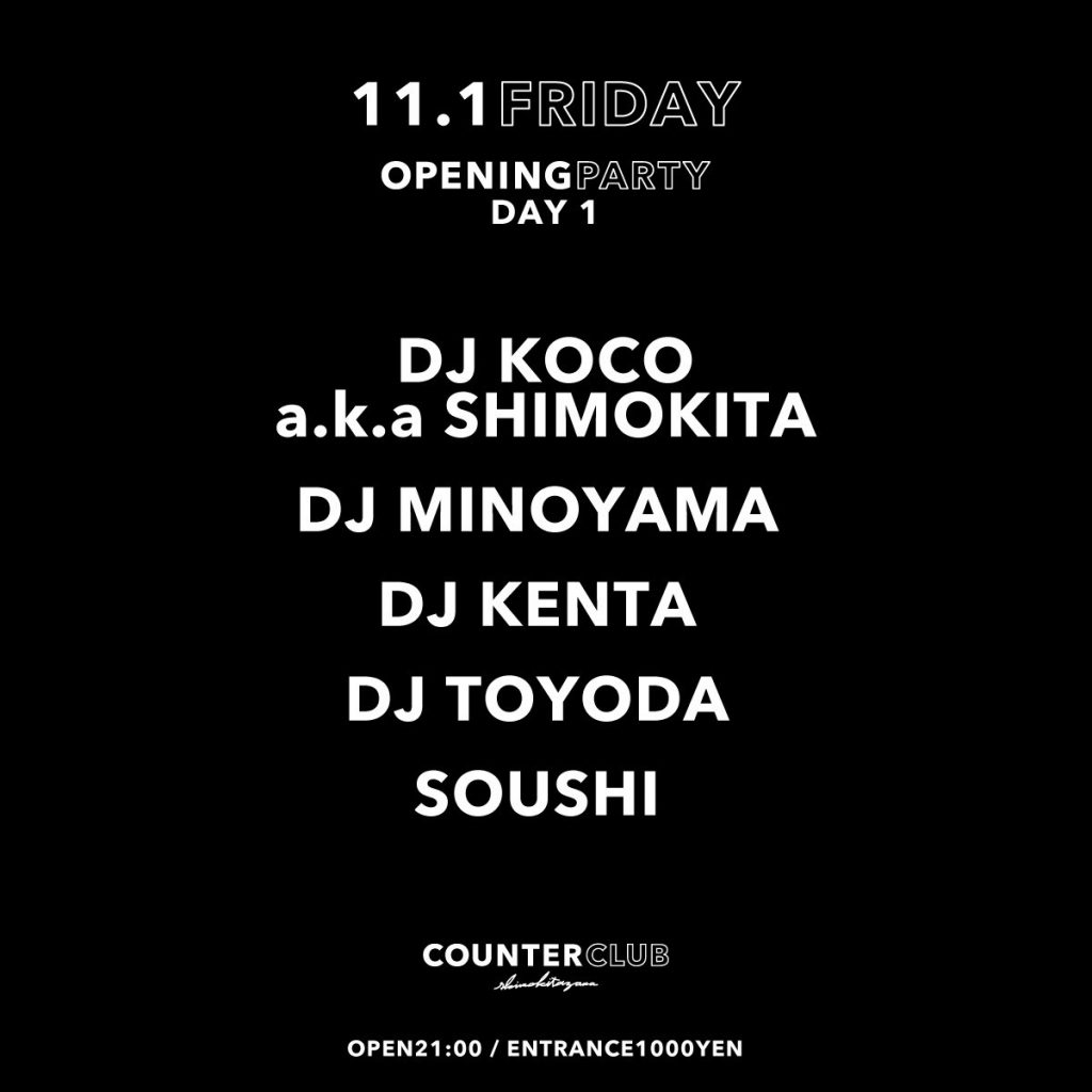 COUNTER CLUB OPENING PARTY ''DAY 1''