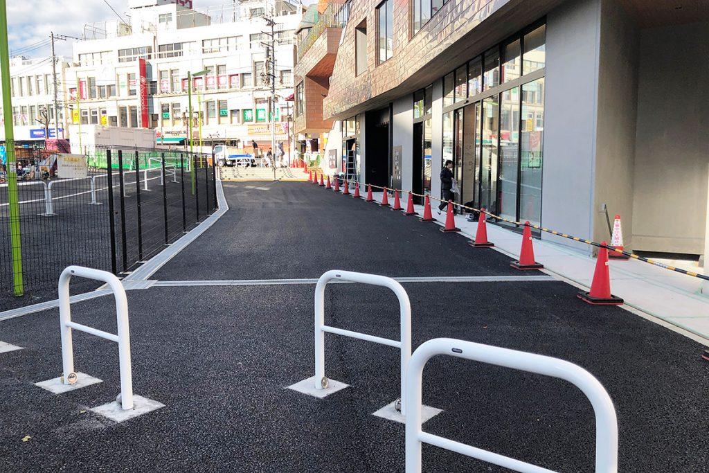 シモキタフロント前の歩道も11月15日に開通しましたー
