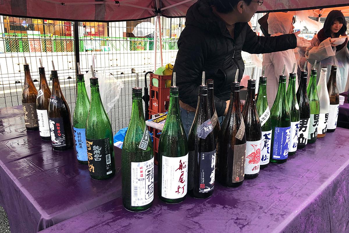 東北沿岸の日本酒がずらり