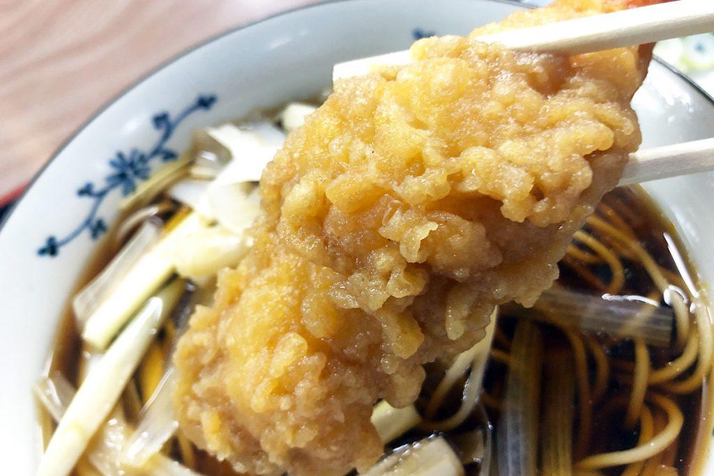 海老の天ぷらに