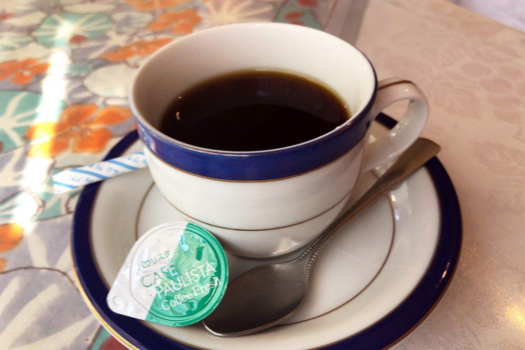 なんとなく名残惜しかったので、食後にコーヒー(350円)を頂く