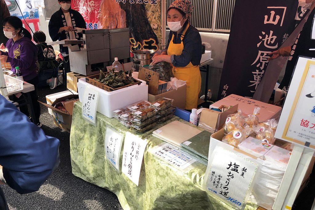 地元糸魚川のお菓子屋さんは、名物の笹団子や糸魚川銘菓塩おくりの道