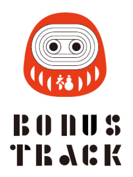「BONUS TRACK」のロゴ 縁起物のダルマをモチーフとしたロゴマーク