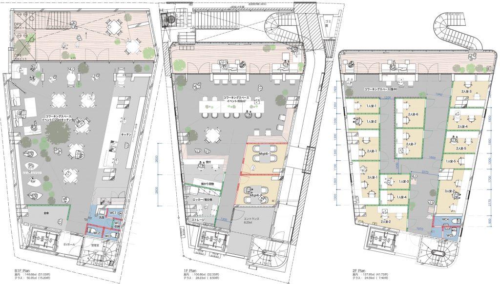 「いいオフィス下北沢」平面図