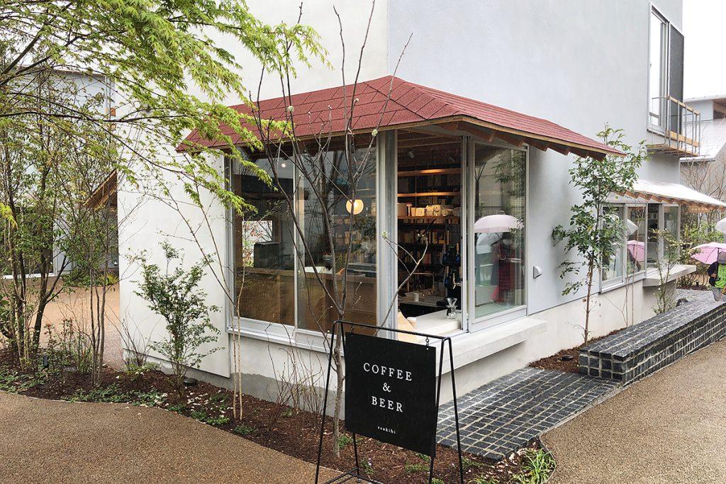 COFFEE&BEERの看板が目を引きますが、「日記屋 月日」は日記の専門店です