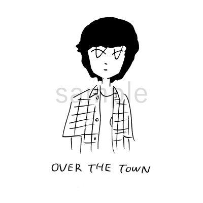 「街の上で」⻘ver.イラスト