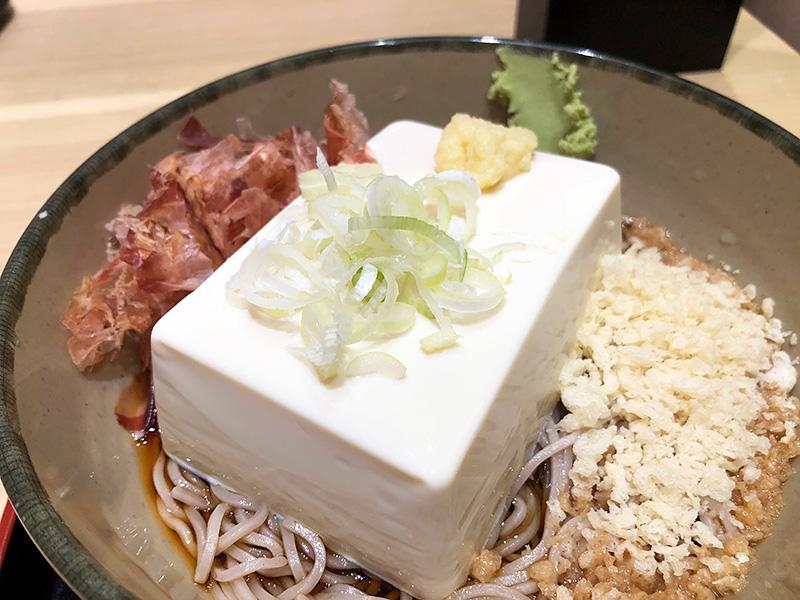箱根そばの「豆腐一丁そば」480円(税込)