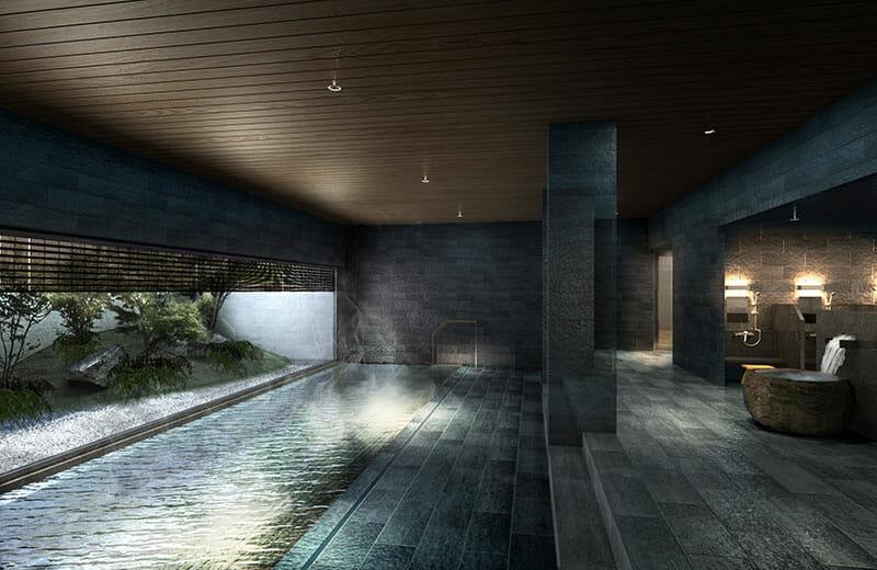 「温泉露天風呂付き大浴場」イメージ