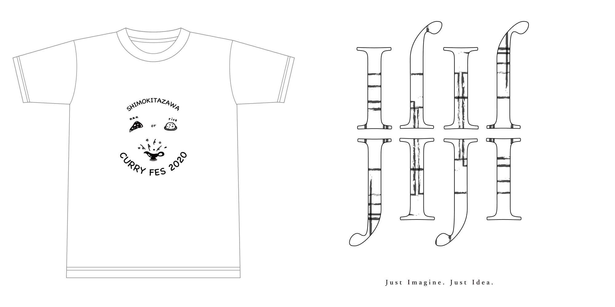 JIJI INC.×下北沢カレーフェスティバルコラボTシャツ
