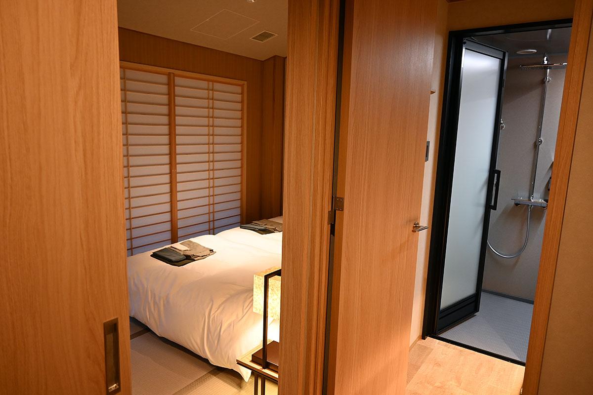 全室シャワールームが付いていますが、このお部屋は特別