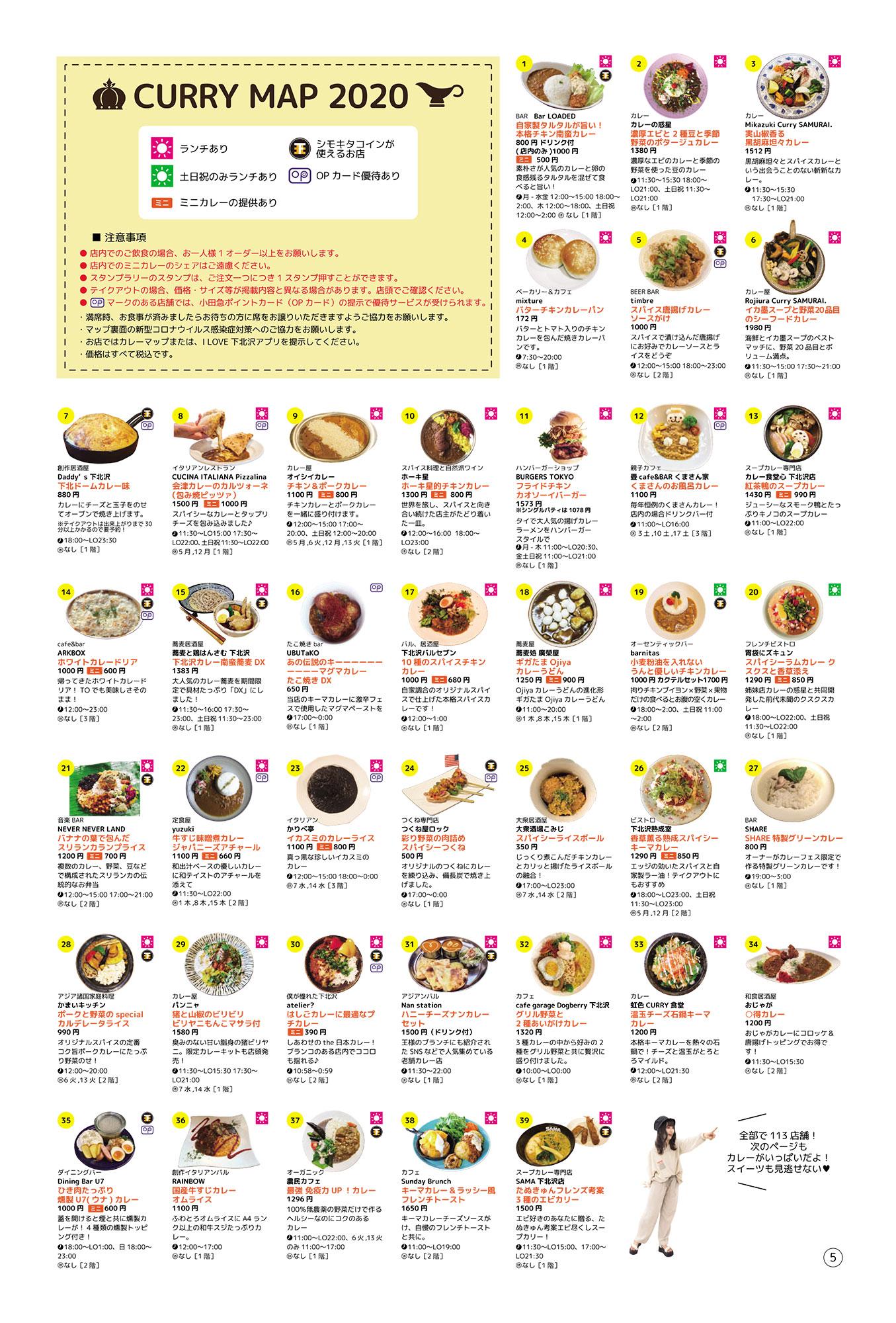 『下北沢カレーフェスティバル2020』参加店舗紹介【1】