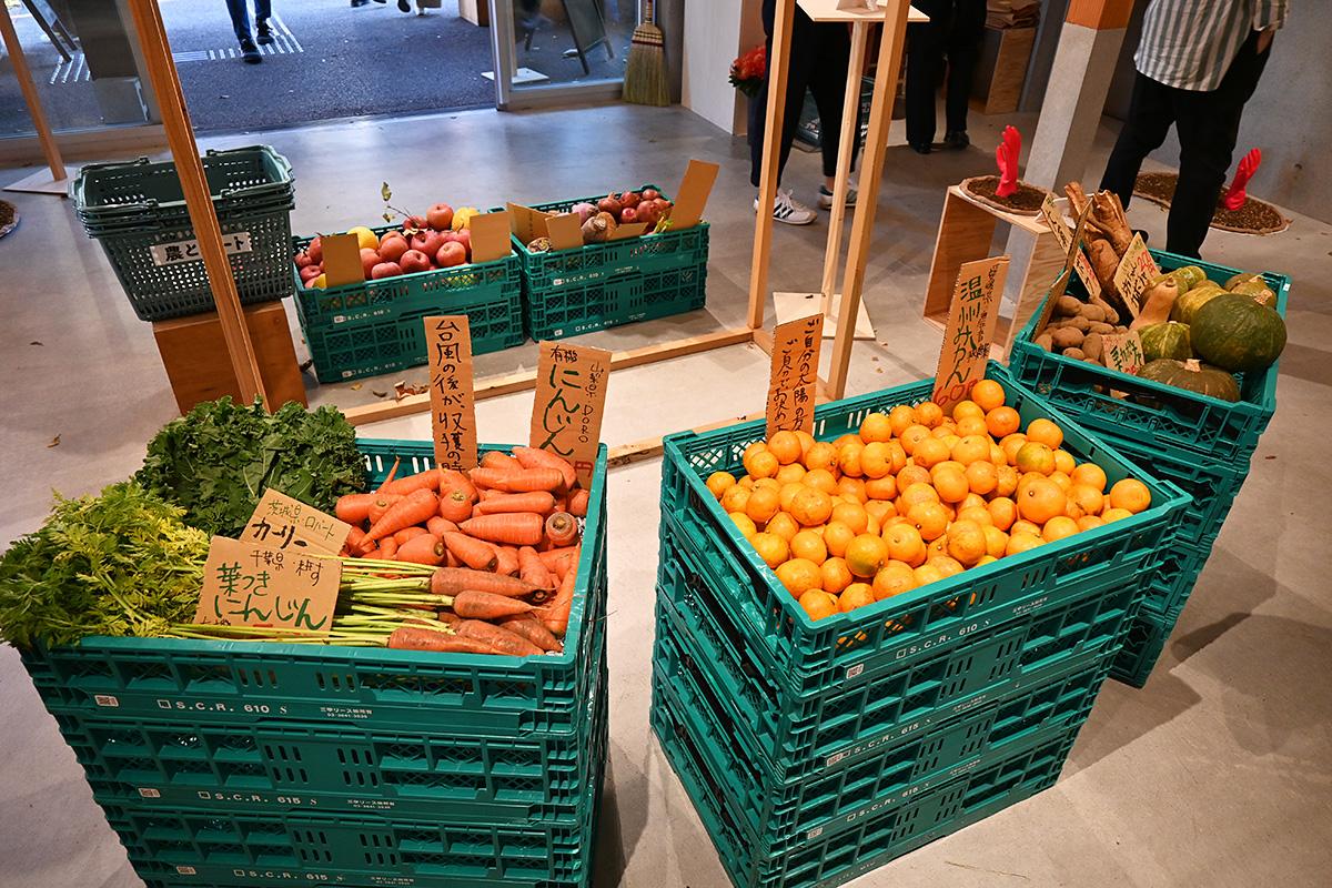 野菜や果物の直売もしています