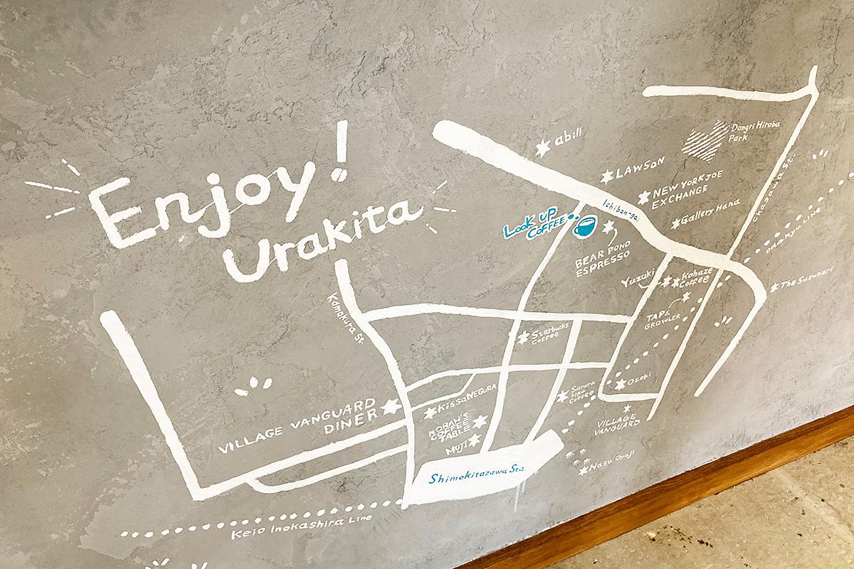 新しいお店なのに、こんな地図が書かれているとは、、、ただのお店じゃないですね