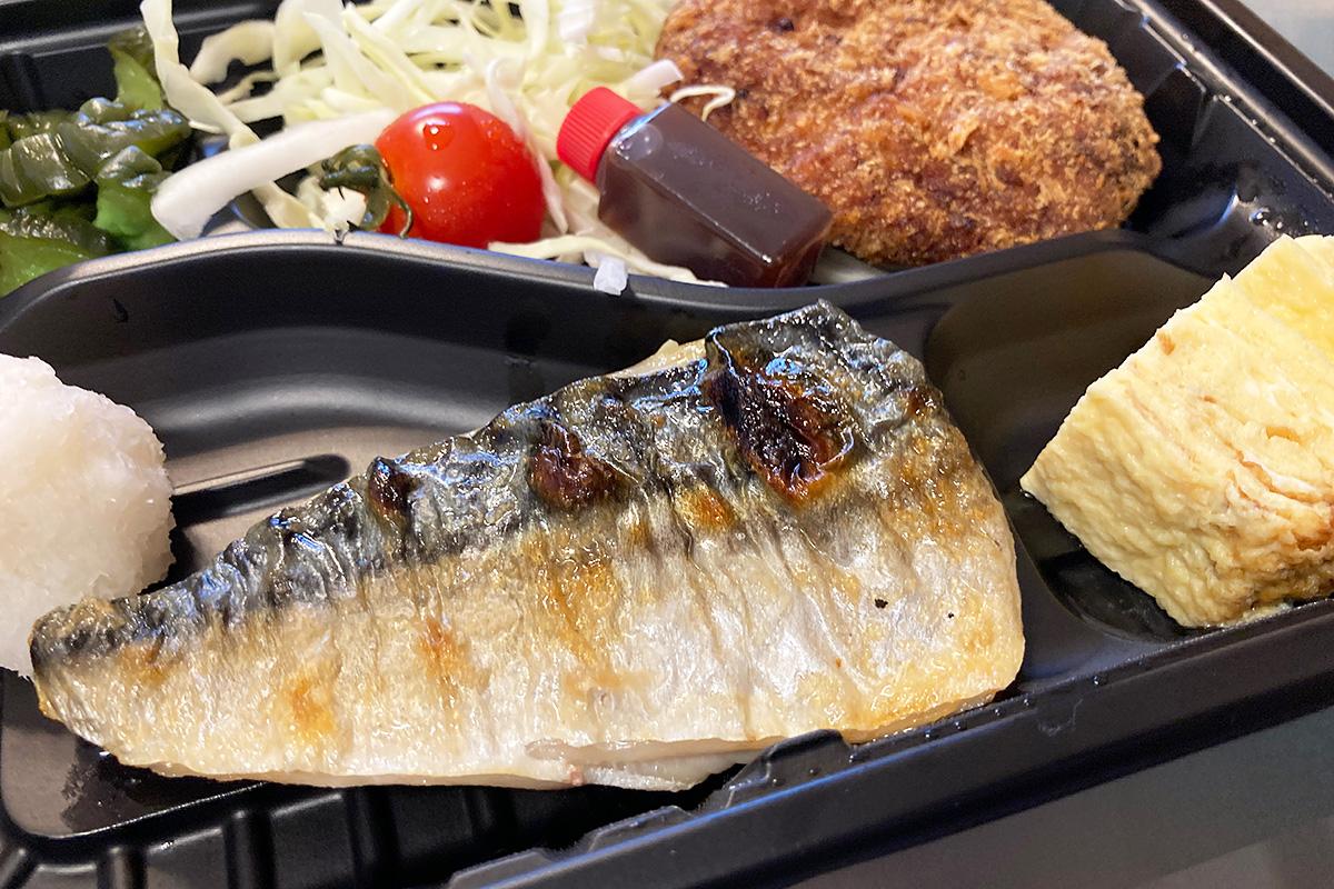 「4種のおつまみセット」  本日の焼き魚(さばの塩焼き)