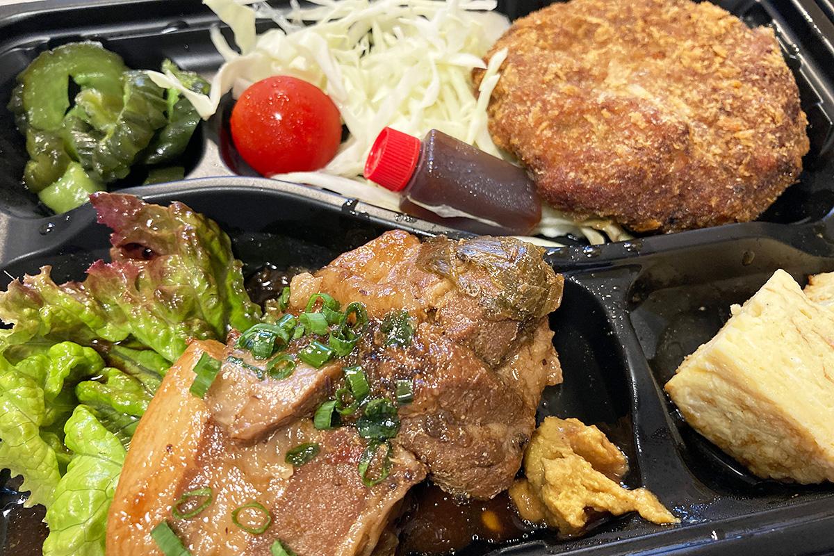 「4種のおつまみセット」  豚の角煮